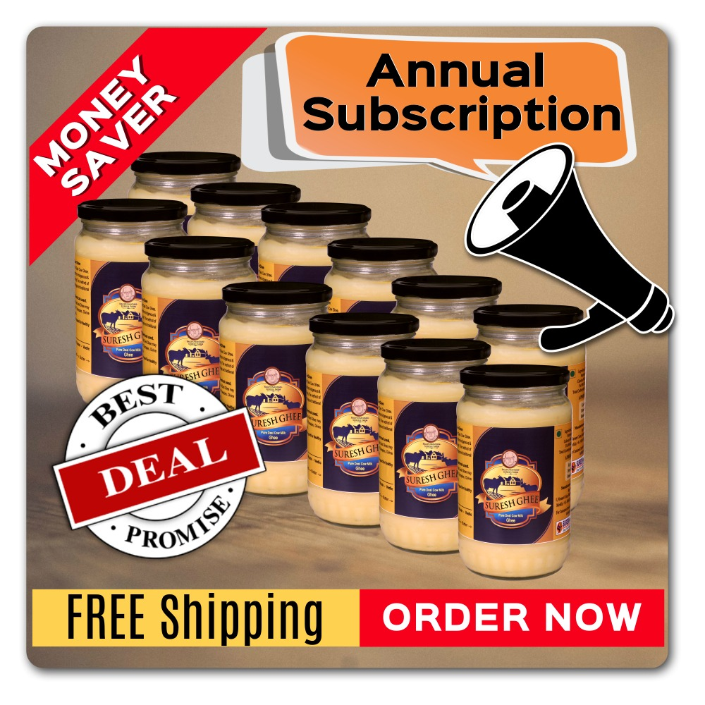Ghee subscription: SureshDesiGhee.com