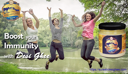 Boost your immunity with desi cow ghee: SureshDesiGhee.com