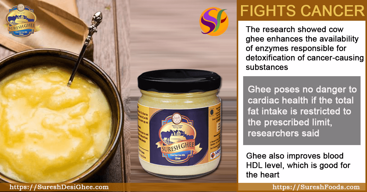 COW'S GHEE HELPS IN CANCER : SureshDesiGhee.com
